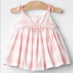 Baby Gap NWT 18-24 Pink/White Gingham Swing Top